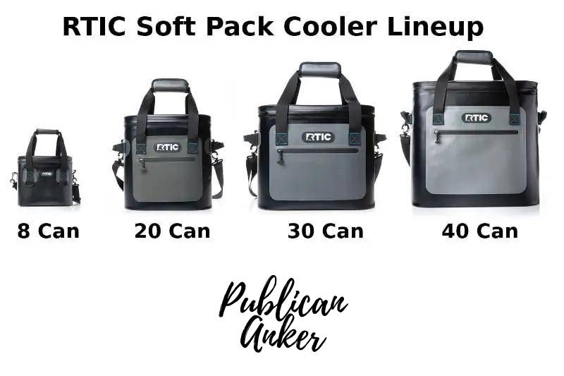 All Sizes of RTIC Coolers